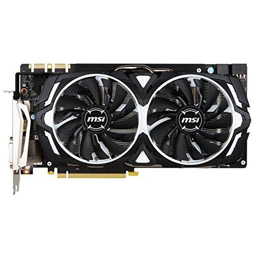MSI GeForce GTX 1080 ARMOR 8G GeForce GTX 1080 8GB GDDR5 - graphics cards (NVIDIA, GeForce GTX 1080, 7680 x 4320 pixels, 1733 MHz, 2-Way SLI, 7680 x 4320 pixels)