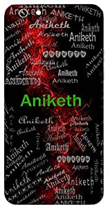 Aniketh (Lord Of All) Name & Sign Printed All over customize & Personalized!! Protective back cover for your Smart Phone : Samsung Galaxy A-7