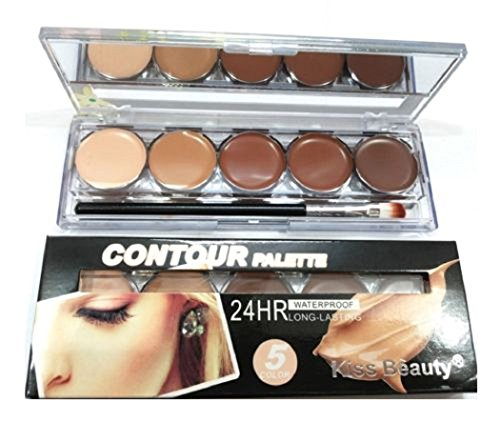 Kiss Beauty Contour Concealer Highlighter Palette (5 Color)