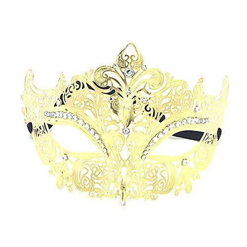 Frau Zwei Gesicht Kostüm - Hacoly Maske Damen Hollow Gold Maskenball