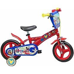 "Disney Mickey Mouse Vélo Enfant Rouge 10"""