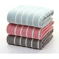 GZD 100% cotone di alta-end semplice buon assorbimento di lusso Coppia tovagliolo di bagno (formato 70 * 140) , blue