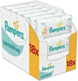 Pampers Sensitive Baby Wipes - Pack of 18 (Total 1008 Wipes)
