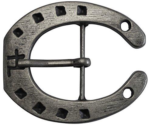 CENO Gürtelschnalle in Hufeisen Form für alle Wechselgürtel mit einer Breite von 4cm Buckle