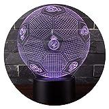 3D Optische Illusions-Lampen NHsunray LED 7 Farben Touch-Schalter Ändern Nachtlicht Für Schlafzimmer Home Decoration Hochzeit Geburtstag Weihnachten Valentine Geschenk (Real Madrid Fußball)