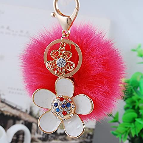Coche llavero creative señoras Crystal Butterfly bulbo piloso Llavero bolsa encanto