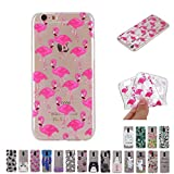 V-Ted Coque Apple iPhone 7 Plus 8 Plus Flamant Rose Silicone Ultra Fine Mince Bumper...