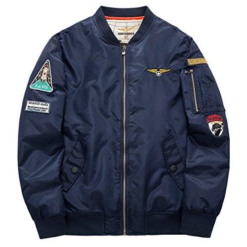 Herren Winter Baumwollbekleidung Flight Suits Plus Baumwoll Baseball Jacken (Flight Suit Herren)
