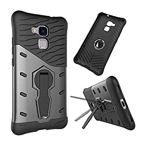 Skitic Stoßfest Armor Case für iPhone 5 / 5G / 5S / SE / 6 / 6S / 6 Plus / 6S Plus / Huawei Honor 5C / P8 Lite, 2 in 1 Hybride Tough Heavy Duty Rugged Shockproof Dual Layer Hart PC + Soft TPU Schutzhülle Etui Back Cover Bumper mit 360 Grad Drehung Kicksta