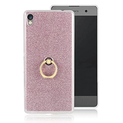 Soft Flexible TPU Back Cover Case Shockproof Schutzhülle mit Bling Glitter Sparkles und Kickstand für Sony Xperia C6 ( Color : Blue ) Pink