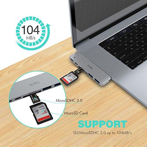 51b1UMaSZvL - [amazon] HAVIT Thunderbolt 3 USB-C-Hub für 2016/2017 Apple MacBook Pro für nur 50,99€
