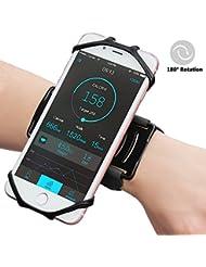 Matone Universal Sportarmband für iPhone 7, 7 Plus, 6S, Samsung S8, S8 Plus, S7 Edge, Galaxy S5, 180° Drehbar Handgelenk Handytasche für Joggen Laufen Radfahren Wandern