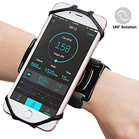 Matone Sports Forearm Armband,180° Rotatable Workout Wristband for Running Cycling Hiking, Adjustable Strap for iPhone 8/7/6S/6 Plus, Galaxy S8/S8 Plus/S7