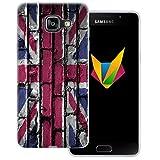 dessana England transparente Silikon TPU Schutzhülle 0,7mm dünne Handy Soft Case für Samsung Galaxy A5 (2016) England Flagge