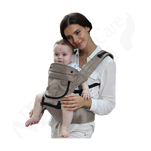 Baby Carrier Hip Seat 100% Cotton - Pocket & Removable Hoodie/Head Support - Adjustable & Breathable - Neotech Care Brand - for Infant, Child, Toddler - Grey Neotech Care 4 WAYS TO CARRY BABY! 1) only hip seat facing you! 2) only hip seat facing outside world 3) hip seat + baby wrapper facing you 4) hip seat + baby wrapper facing outside world! REMOVABLE HEAD SUPPORT! 100% COTTON outer fabric - Comfortable & Breathable! 1