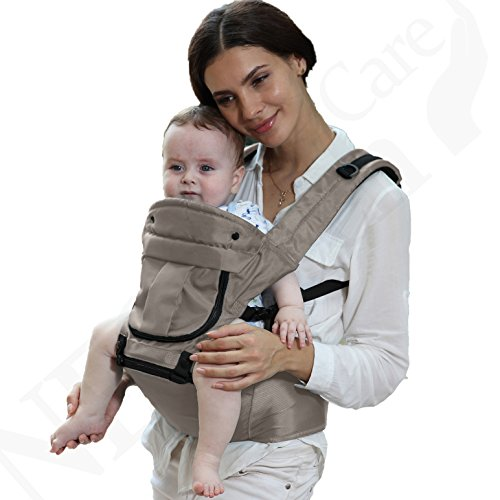 27ce6a5a849f Baby Carrier Hip Seat 100% Cotton - Removable Hoodie - Adjustable - Neotech  Care Brand