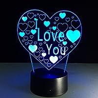 Personalisiertes Led Nachtlicht 3d Mit 4 Herzen Und Schriftzügen Beautiful In Colour Night Lights