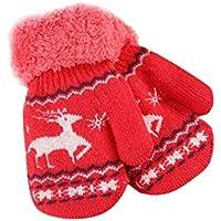 ENFANTS Toddler Hiver au chaud Moufles Fuibo de Noël mignon Cerf épaissir chaud Infant bébé filles garçons d'hiver chaud Gants de cadeau de Noël