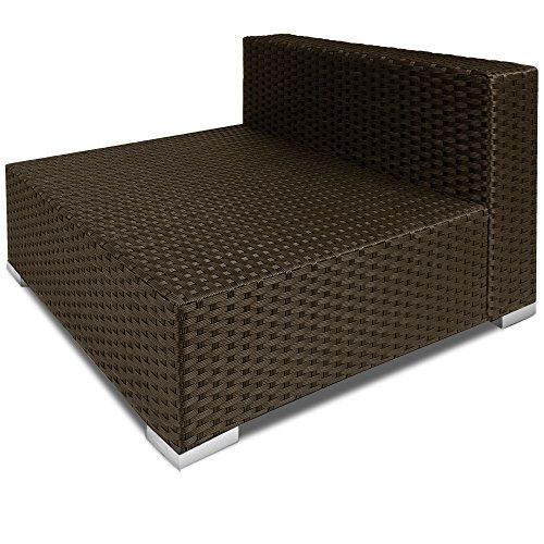 polyrattan sitzgruppe lounge mit glas tischplatte gartenm bel rattanm bel spar baumarkt. Black Bedroom Furniture Sets. Home Design Ideas