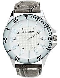 Armbandsur Analog White Dial Men's Watch-ABS0001MWG