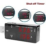 Muker® (A16) USB Digital Multimeter, Amperemeter Voltmeter (kompatibel mit QC2.0) Timing-Aus-Funktion 4-30V