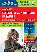 Concours Secrétaire administratif et SAENES - Tout-en-un - Concours 2019 de Sylvie Beyssade