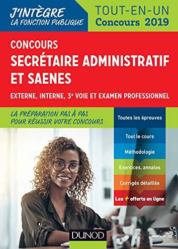Concours Secrétaire administratif et SAENES - Tout-en-un - Concours 2019 par Sylvie Beyssade