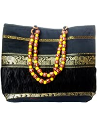 Swanky Collections Silk Fabric Handbags For Women | Silk Sling Bags/Jhola Bags For Women Stylish Trendy On Low...