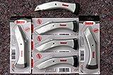 6 Stück PROFI Bodenleger Teppich Messer Trapez Haken Klingen Verlegemesser Set