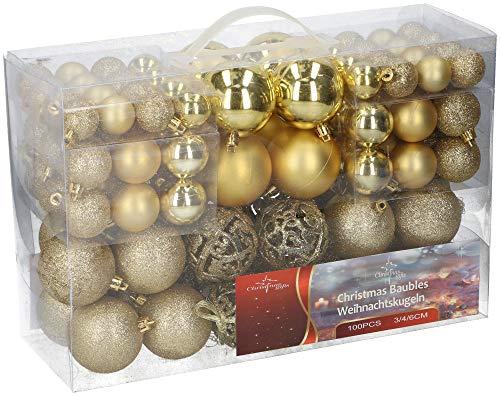 Shine palline di natale 100 pezzi 3/4/6 cm & shatter proof albero di natale decorazione