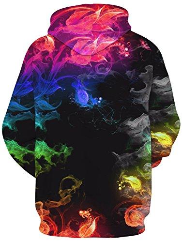 Imagen de vogseek unisex 3d impresión de tinta colorida hipster novedad cordón bolsillo pullover sudadera con capucha para mujeres mujeres ropa casual ropa deportiva alternativa