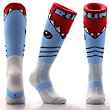 Samson Hosiery ® SHARK ATTACK Print Funky Novelty Fashion Gift Socks Football Rugby Sports And Casual Knee High Socks For Men Women Kids Unisex