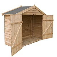 7ft x 3ft Overlap Apex Wooden Bike Storage Shed - Brand New 7x3 Wood Sheds