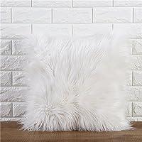 Joybuy - Cojines de lujo de imitación suave de piel de felpa decoración del hogar 45 cm x 45 cm.