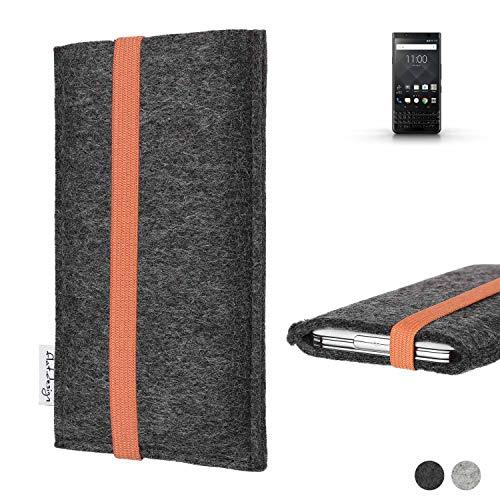 flat.design vegane Handy Tasche Coimbra für BlackBerry KEYone Black Edition - Schutz Case Tasche Filz vegan fair orange