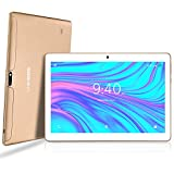 LNMBBS Tablette Tactile 10 Pouces - Android 9.0 , 64Go, 4Go de RAM, 3G Doule SIM, WiFi/Bluetooth/GPS/OTG(Or) ...