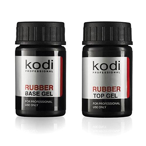 Kodi Professional Top & Base Coat Unterlack & Überlack Set 14ml | Einweichgel, Nagelpolitur-Set | Für langlebige Nägel | Einfach zu verwenden, ungiftig & geruchlos | Aushärtung unter LED oder UV-Lampe