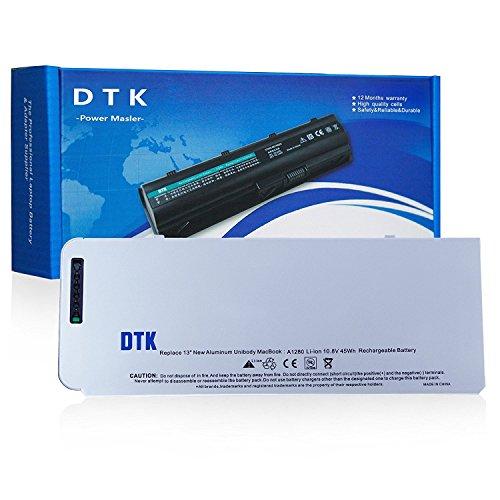 Dtk® Ultra Hochleistung Notebook Laptop Batterie Li-ion Akku für Apple A1280 A1278 Macbook 13-inch Series, (2008 Version) [Li-polymer 6-cell 4200mah] (Apple-laptop-batterie-2008)