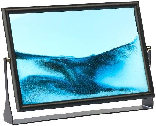 infactory bewegte Sandbilder: Sandbild Blue Ocean 30,5 x 20cm (Sandbild Bilderrahmen)