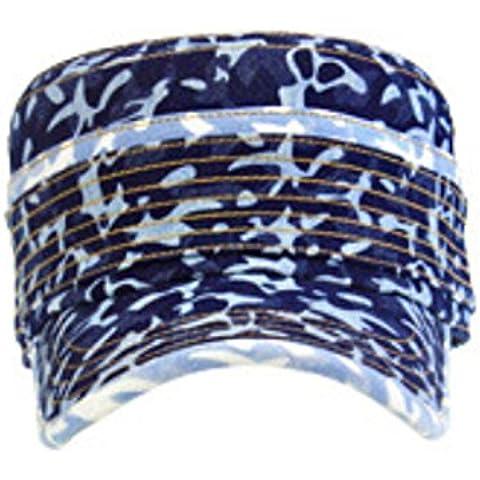 Sombrero de vaquero de hombre algodón plano sombrero moda camuflaje , deep cowboys , l (58-60cm)