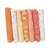 shangjunol 7pcs Baumwolltuch Textilhandwerk Stoff Bundle Patchwork Stoff DIY Nähen Quilten Blumenmuster