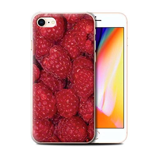Stuff4 Hülle / Case für Apple iPhone 8 / Weintrauben Muster / Saftige Frucht Kollektion Himbeere