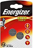 2 X Energizer CR2016 3V Lithium Coin Cell Batteries