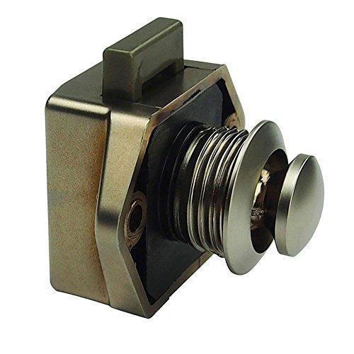 Starnearby Push Button Lock Verriegelung für Knauf Caravan Wohnmobil-Camper Motor Home Schrank, Durchmesser 20 mm (A) -