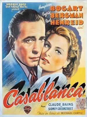Casablanca - Col Vertical French Huge Film PAPER POSTER measures approximately 100x70 cm Greatest Films Collection Directed by Michael Curtiz. Starring Humphrey Bogart, Ingrid Bergman, Paul Henreid.