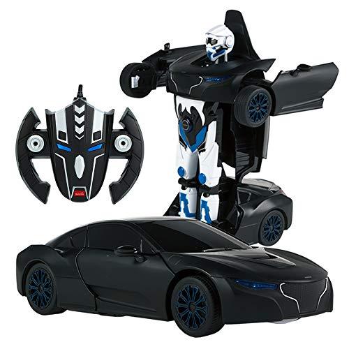 RASTAR - Coche teledirigido transformable en Robot 1:14, Color Negro (ColorBaby 85001)