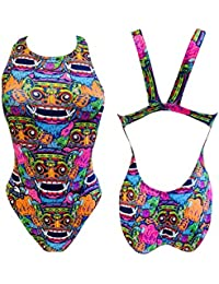TURBO - Swimsuit Nat. Sra. Bali Tribal, Talla S, Color Royal