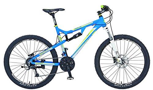 REXBike Jungen Mountainbike REX Alu MTB Fully 27.5 Zoll 650B Bergsteiger 6.6, blau matt, 50, 51456-3111