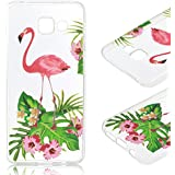 Coque Samsung A3 (2016) , Galaxy A3 (2016) Etui TPU , CaseLover Fleur Motif Mode Etui Coque TPU Slim pour Samsung Galaxy A3 (2016) SM - A310F (4.7 pouces) Mode Flexible Souple Soft Case Couverture Housse Protection Anti rayures Mince Transparent Silicone Cover - Feuille