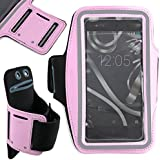 DURAGADGET Brazalete Deportivo Para Smartphone BQ Aquaris X5 Plus / E4 / E4.5 / E5s / E5 FHD - Neopreno - Hipoalergénico Y Antideslizante - En Color Rosa